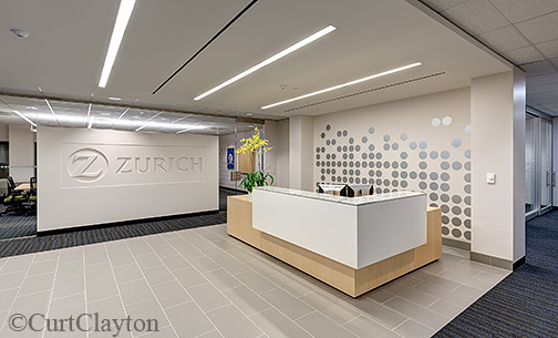 Interior photography at Zurich Insurance Canada