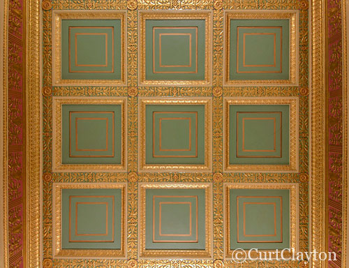 Ceiling detail, First National Building, Detroit by architectural photographer Curt Clayton
