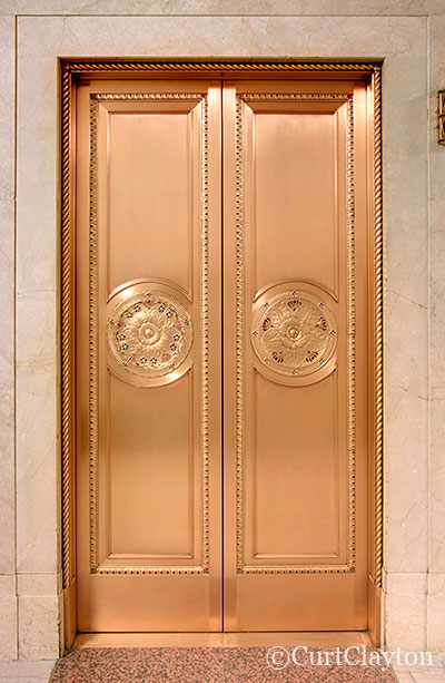 Elevator, First National Building, Detroit by architectural photographer Curt Clayton