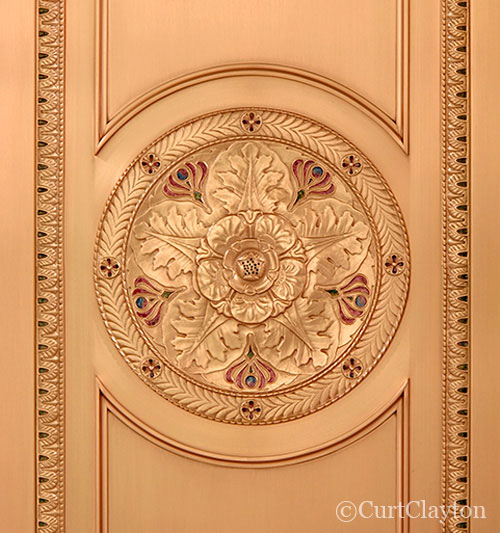 Elevator detail, First National Building, Detroit by architectural photographer Curt Clayton