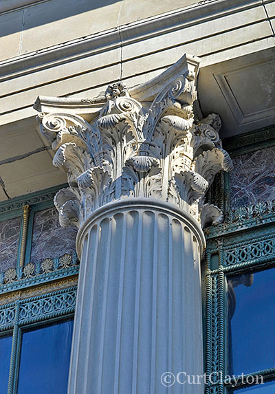 Corinthian Column detail, First National Building, Detroit photo by architectural photographer Curt Clayton