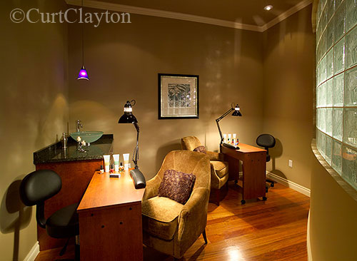 Manicure room at Aviora Spa