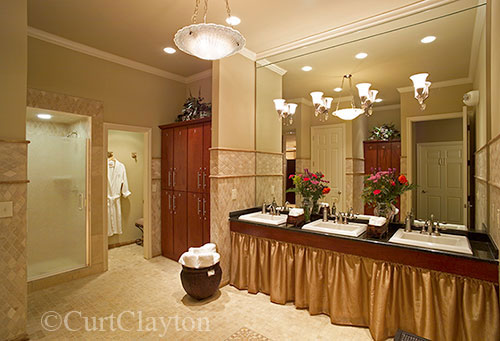 Ladies shower room at Aviora Medical Spa