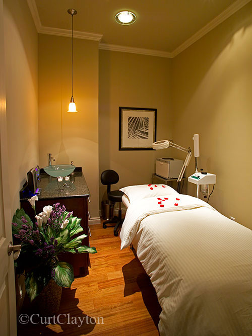 Massage room at Aviora Medical Spa