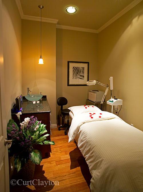 Massage room at Aviora Medical Spa