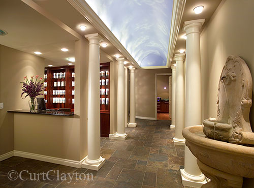 Main interior hallway at Aviora Medical Spa