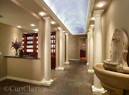 Main interior hallway at Aviora Medical Spa