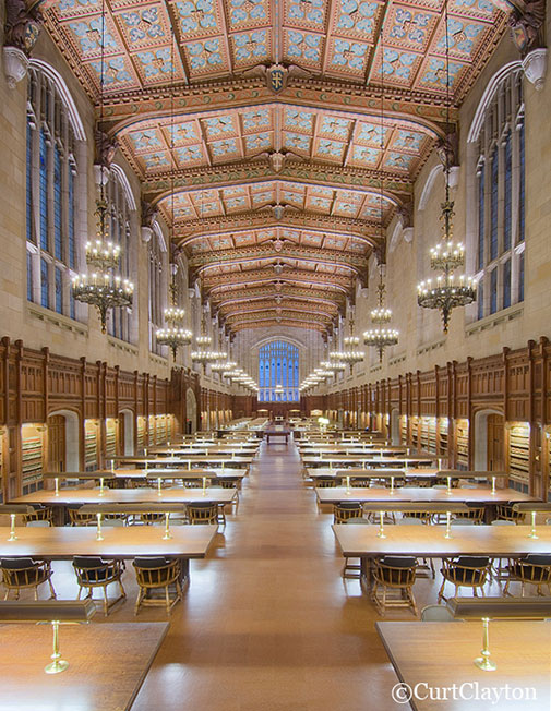 University of Michigan Cook Law Library Reading Room by architectural photographer Curt Clayton