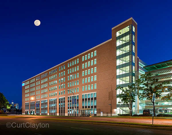 Detroit Medical Center Night Photography