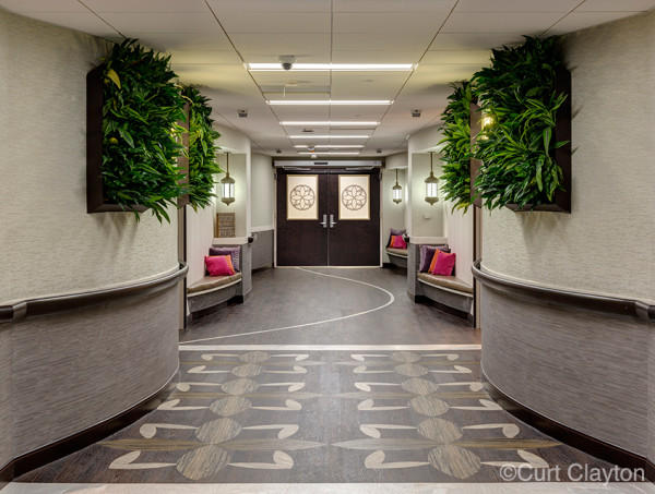 Hallway at the Beaumont Hospital Natural Birthing Center