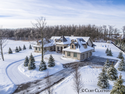 Aerial drone photography, Drone photography in snow