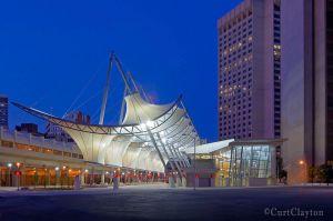 Rosa Parks Transit Center dawn