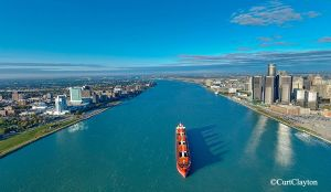 Detroit River aerial photography