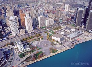 Hart Plaza Aerial photography