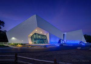 Polk Penguin Conservation Center at night